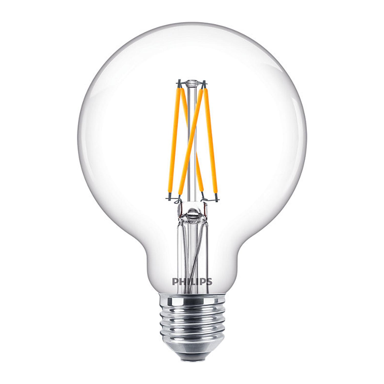 Philips Classic LEDbulb E27 G93 9W 822-827 Klar | DimTone - Ersatz für 60W