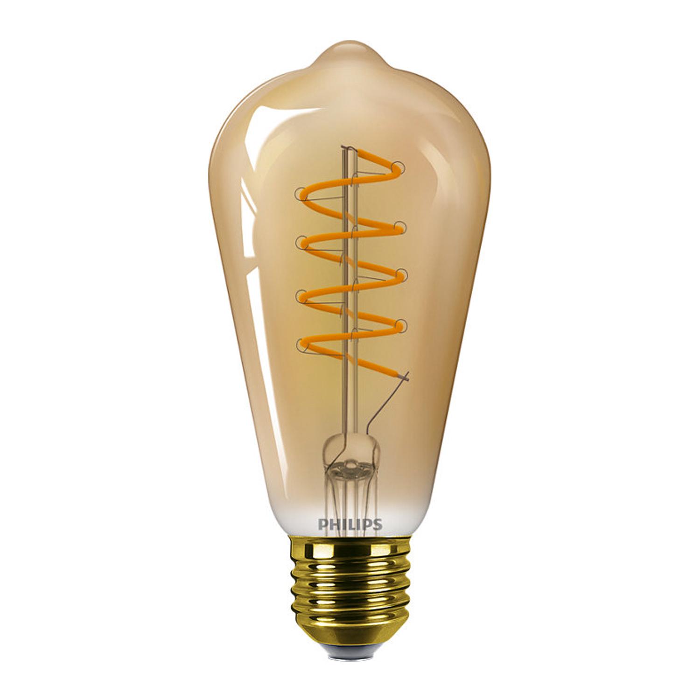 Philips Classic LEDbulb E27 ST64 5.5W 820 Gold | Dimmbar - Ersatz für 25W