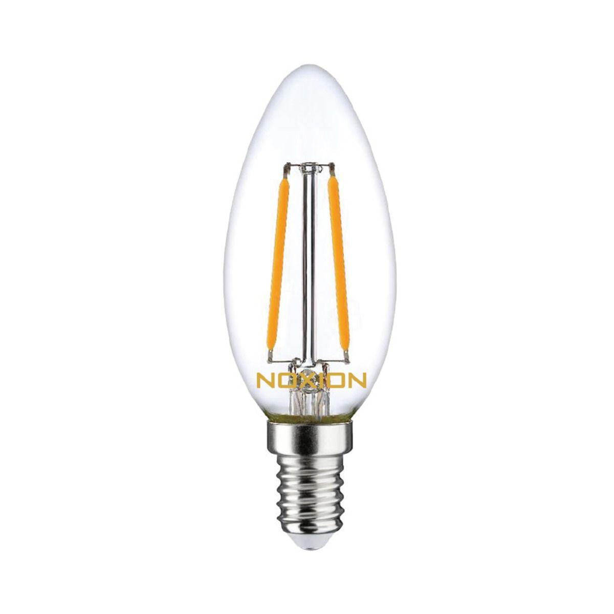 Noxion Lucent Fadenlampe LED Kerze B35 E14 2.5W 250lm 827   Dimmbar - Ersatz für 25W