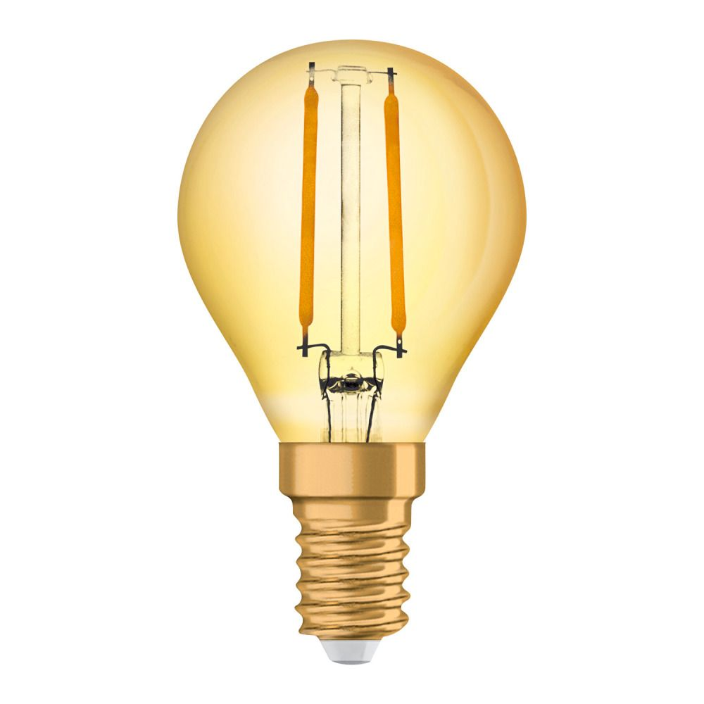 Osram Vintage 1906 LED Classic E14 P 2.5W 824 Fadenlampe Gold | Ersatz für 22W