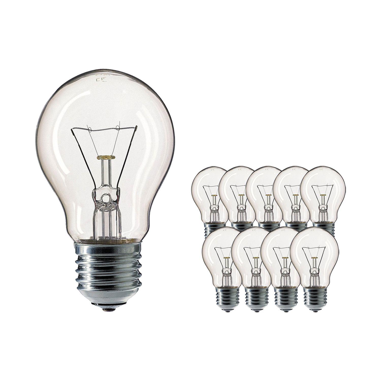 Mehrfachpackung 10x Standard Glühlampe Klar E27 25W 230V
