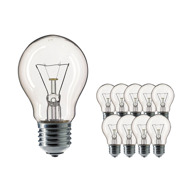 Mehrfachpackung 10x Standard Glühlampe Klar E27 200W 230V