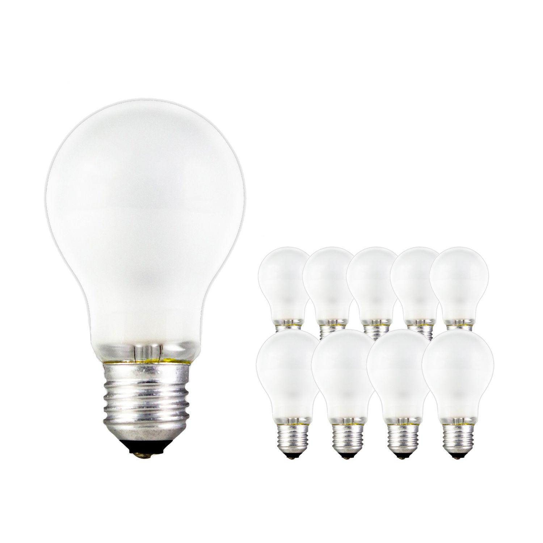 Mehrfachpackung 10x Standard Glühlampe Matt A55 E27 25W 230V