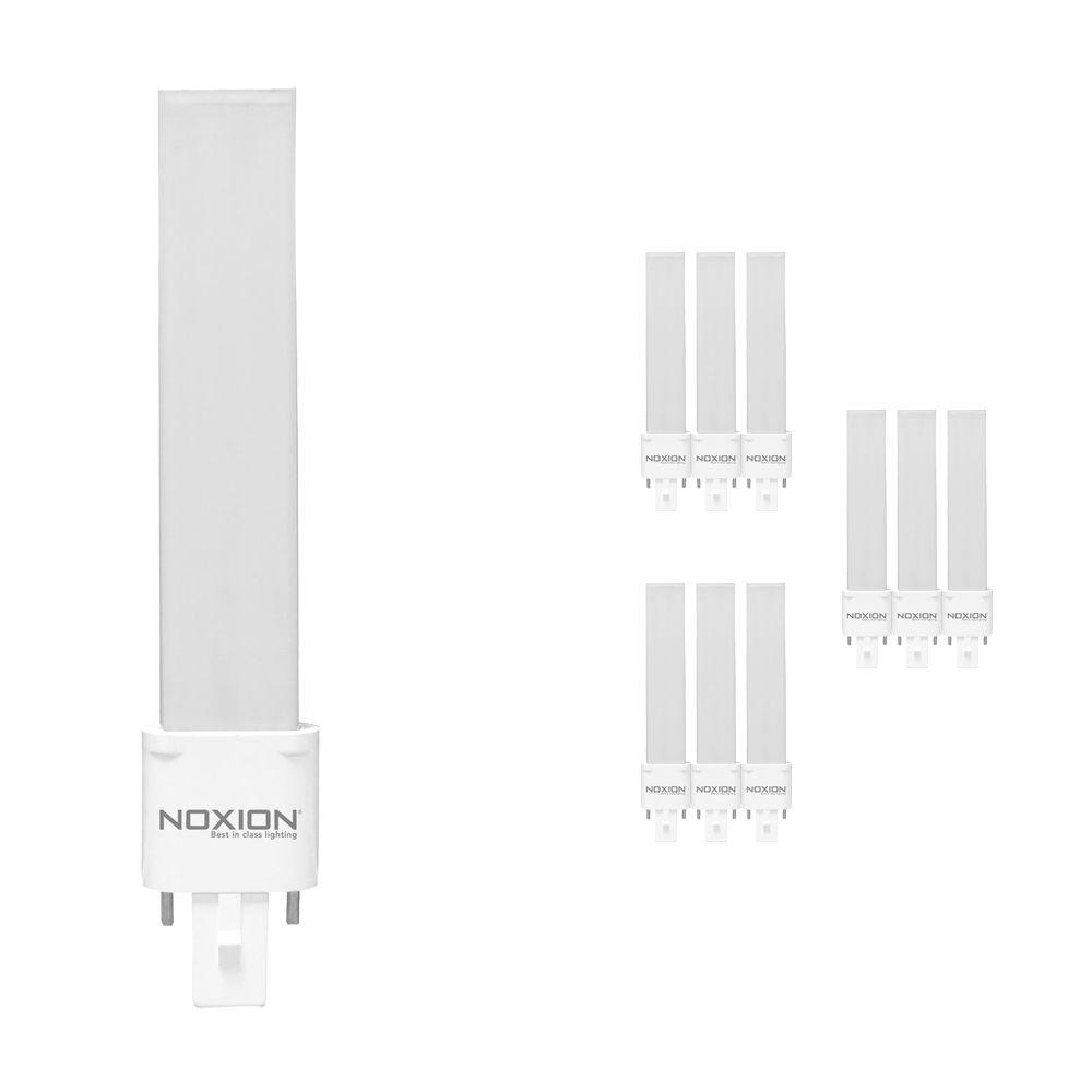 Mehrfachpackung 10x Noxion Lucent LED PL-S EM 4.5W 840 | Kaltweiß - 2-Pins - Ersatz für 10W and 13W