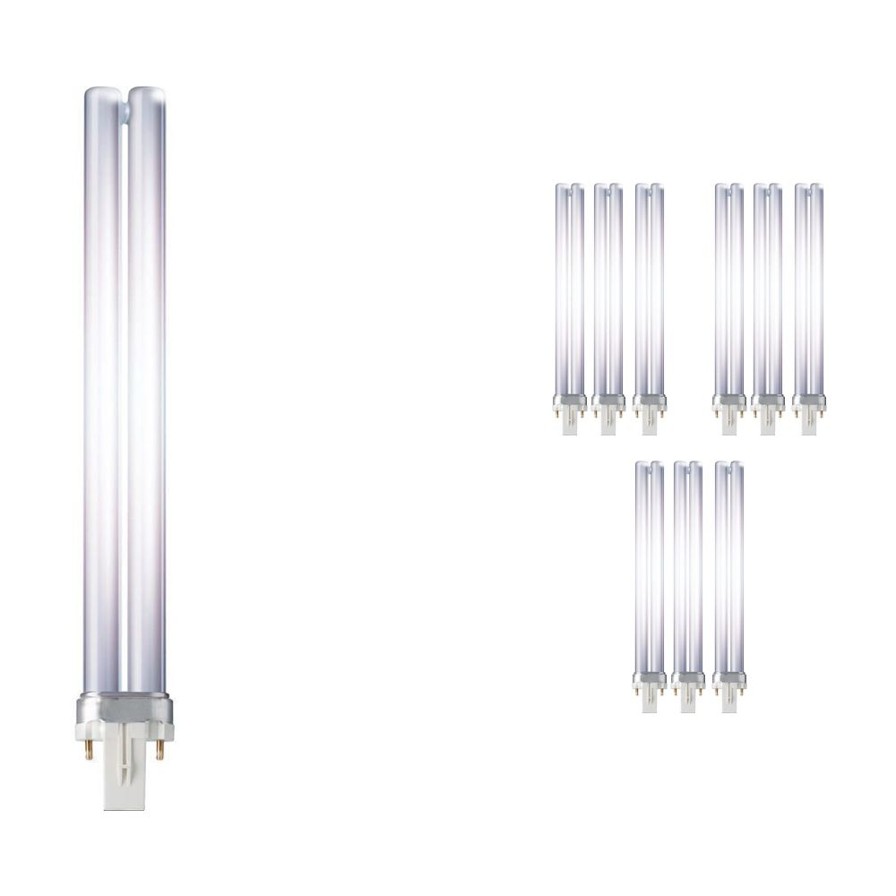 Mehrfachpackung 10x Philips PL-S 11W 827 2P (MASTER) | Extra Warmweiß - 2-Pins