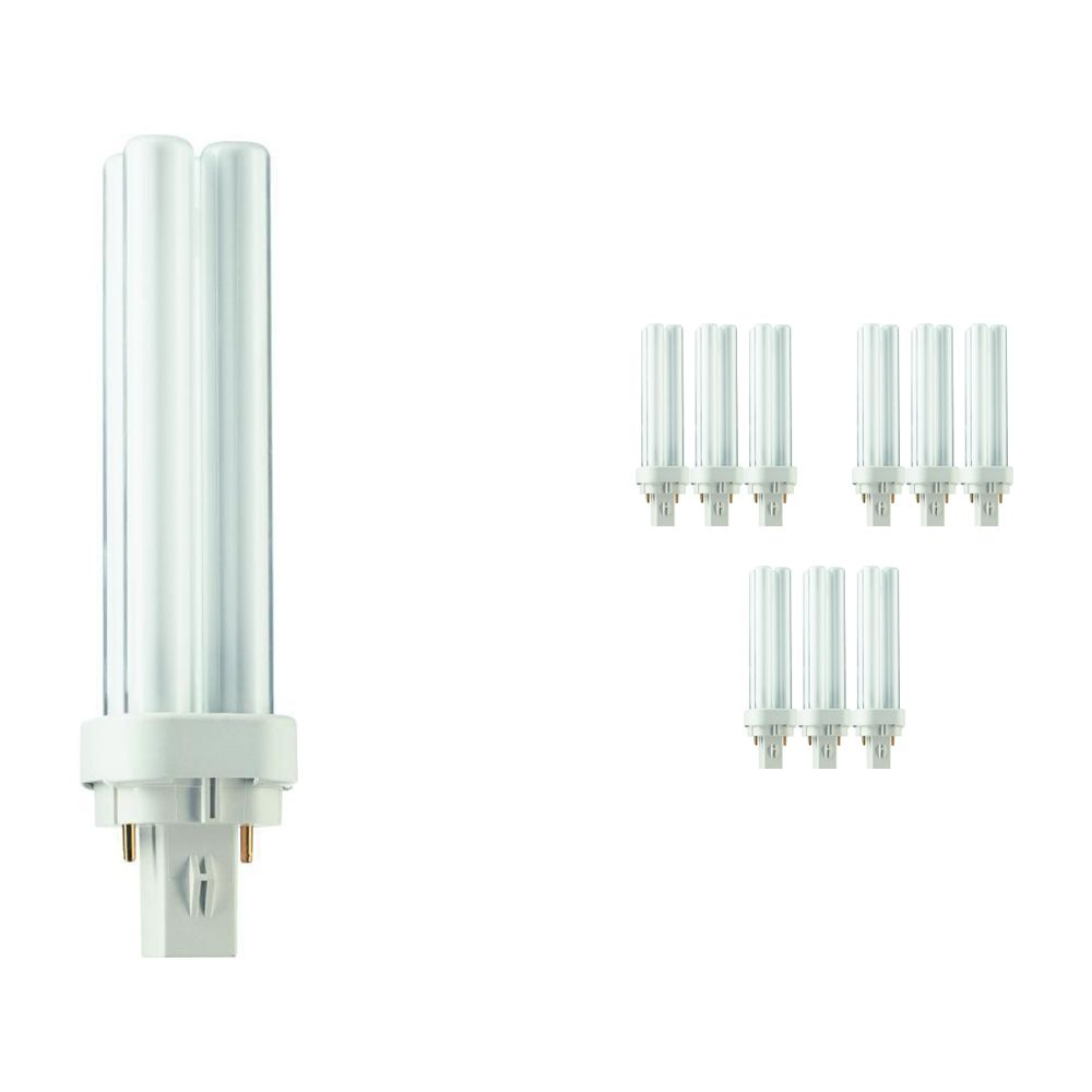 Mehrfachpackung 10x Philips PL-C 13W 827 2P (MASTER) | Extra Warmweiß - 2-Pins