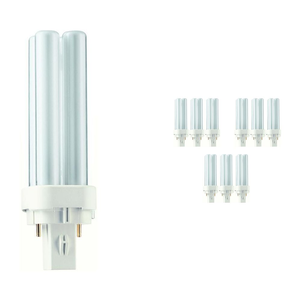 Mehrfachpackung 10x Philips PL-C 10W 830 2P (MASTER)   2-Pins