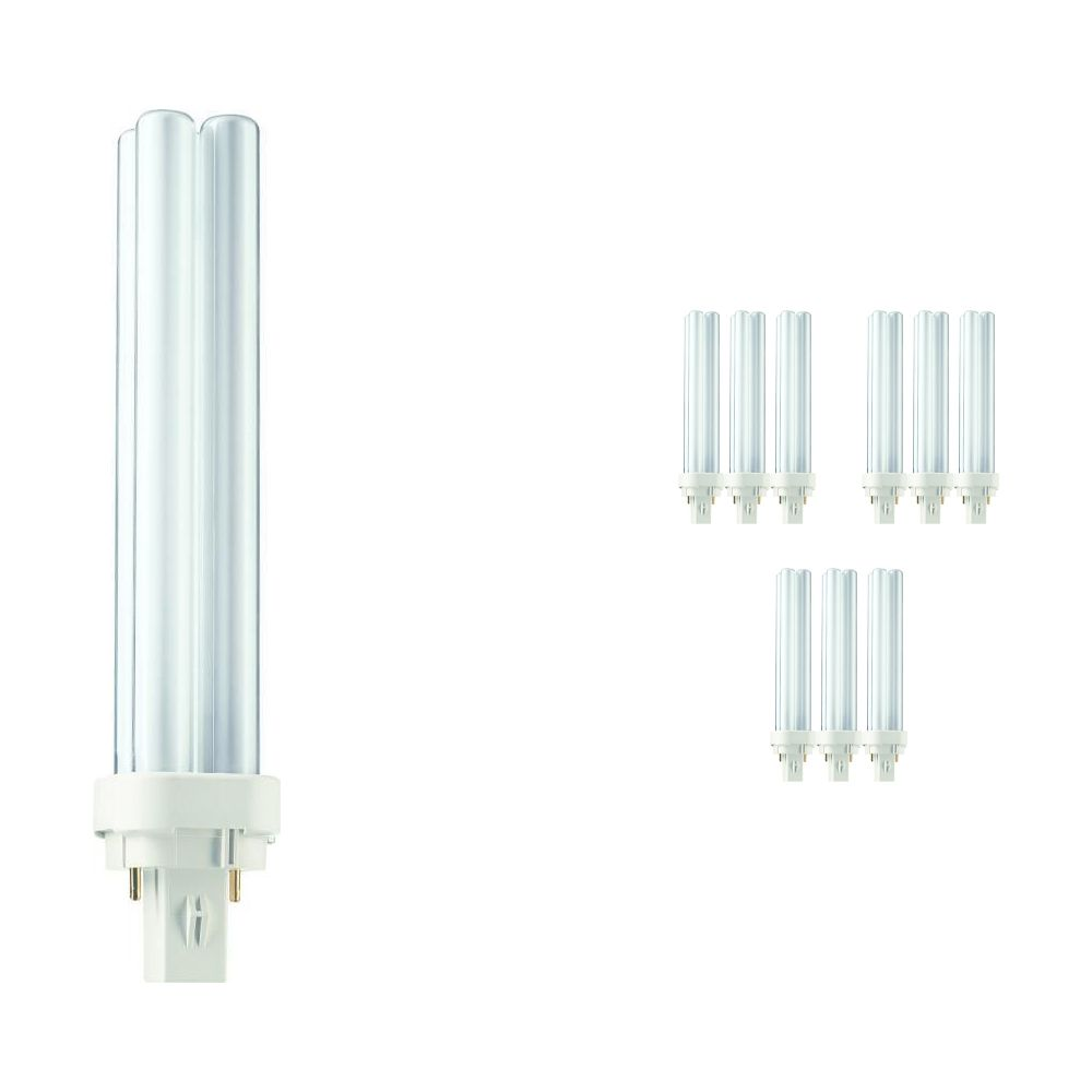 Mehrfachpackung 10x Philips PL-C 26W 827 2P (MASTER) | 2-Pins