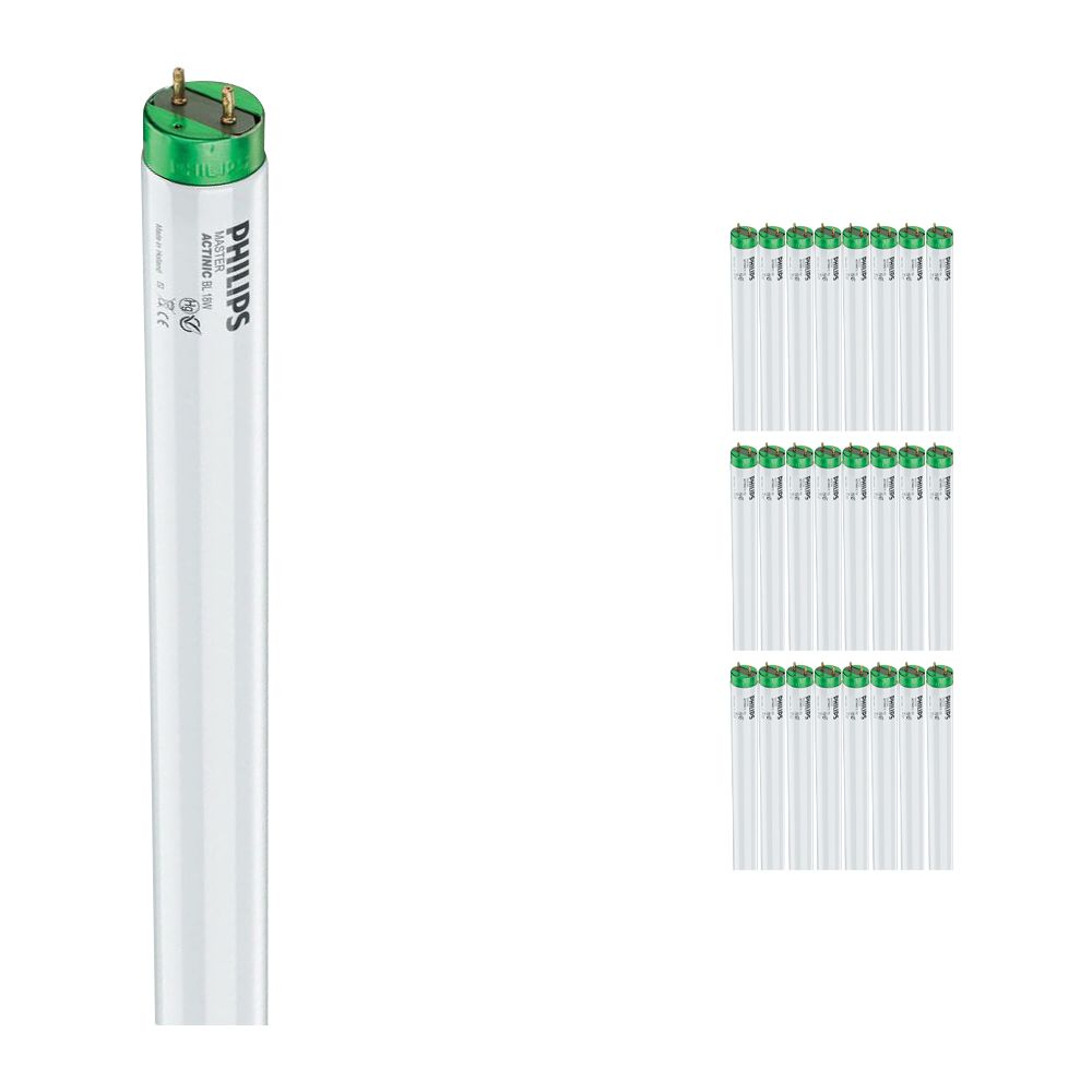 Mehrfachpackung 25x Philips TL-D 18W 10 Actinic BL (MASTER)   59cm
