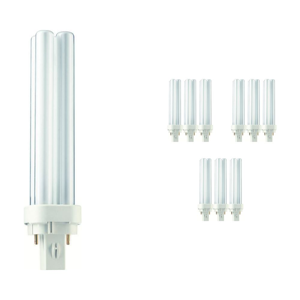 Mehrfachpackung 10x Philips PL-C 18W 840 2P (MASTER) | 2-Pins