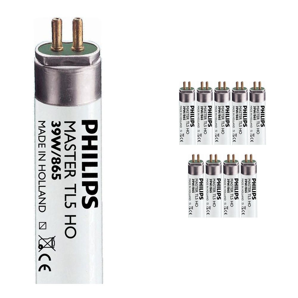 Mehrfachpackung 10x Philips TL5 HO 39W 865 (MASTER) | 85cm -
