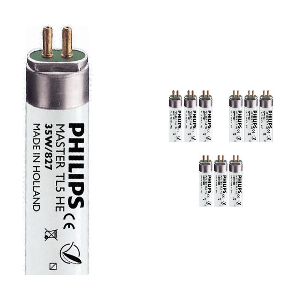 Mehrfachpackung 10x Philips TL5 HE 35W 827 (MASTER) | 145cm