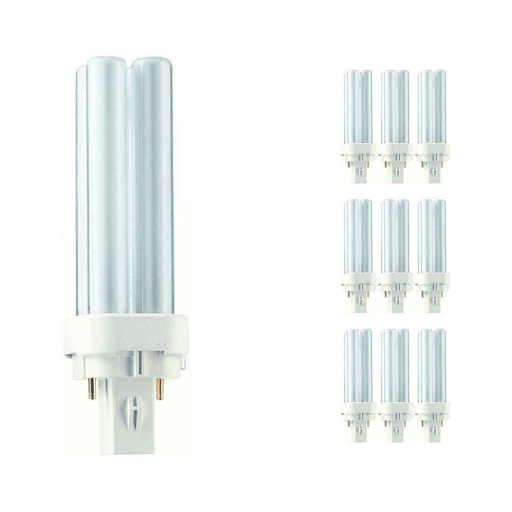Mehrfachpackung 10x Philips PL-C 10W 840 2P (MASTER)   2-Pins
