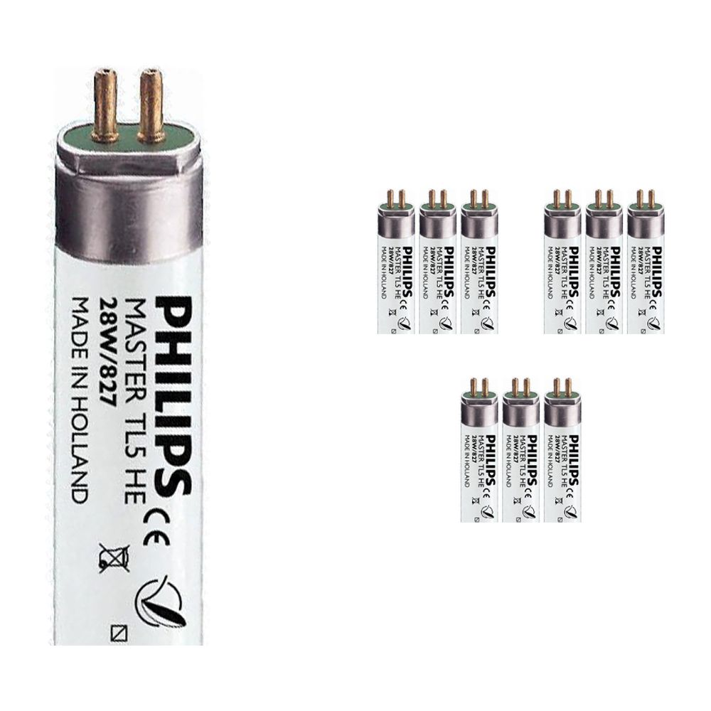 Mehrfachpackung 10x Philips TL5 HE 28W 827 (MASTER)   115cm