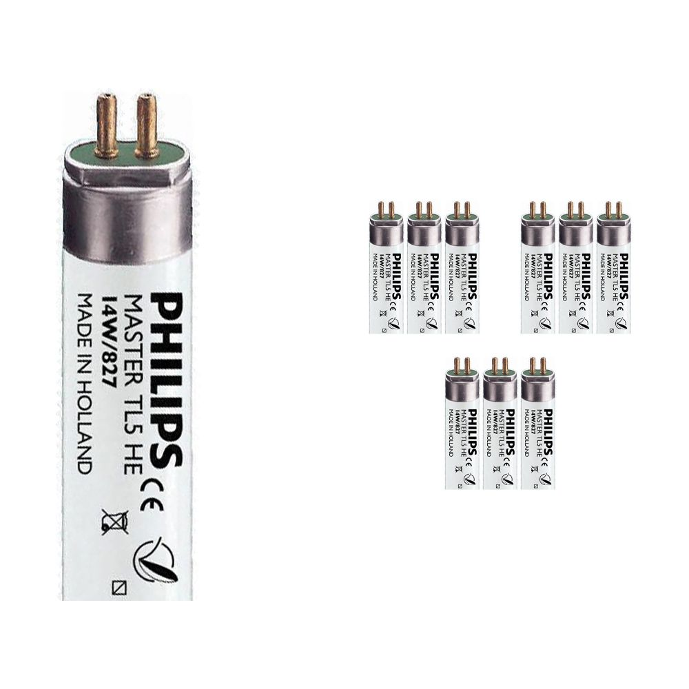 Mehrfachpackung 10x Philips TL5 HE 14W 827 (MASTER) | 55cm