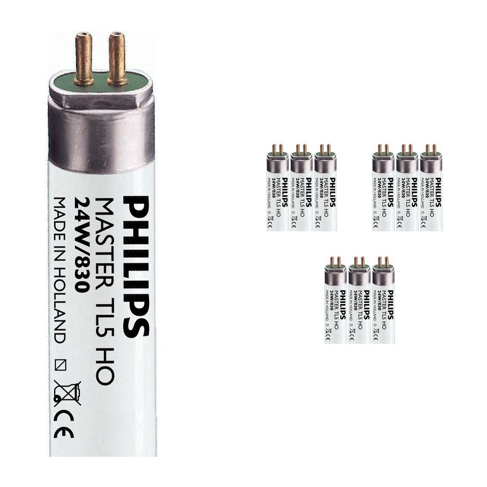 Mehrfachpackung 10x Philips TL5 HO 24W 830 (MASTER) | 55cm