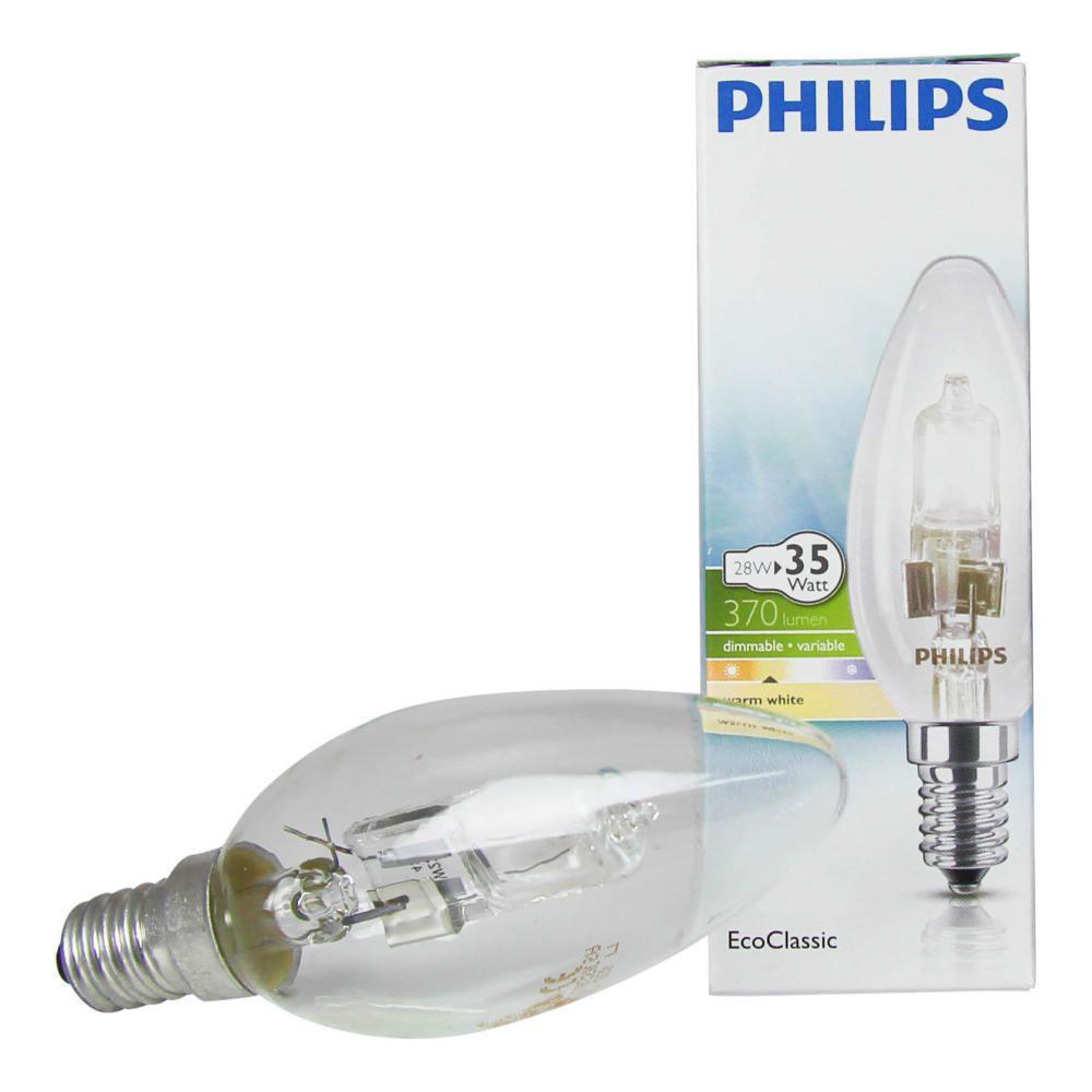 Philips EcoClassic 28W E14 230V B35 Klar