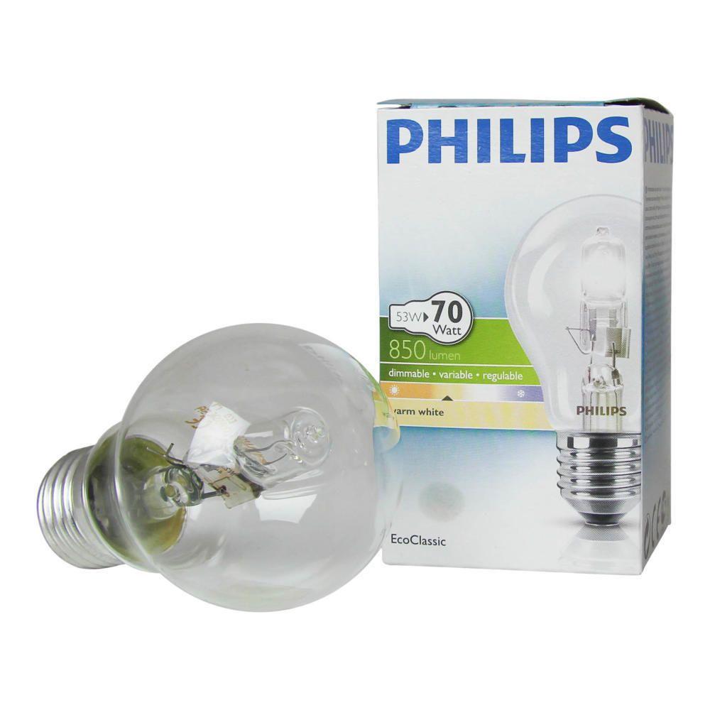 Philips EcoClassic 53W E27 230V A55 Klar