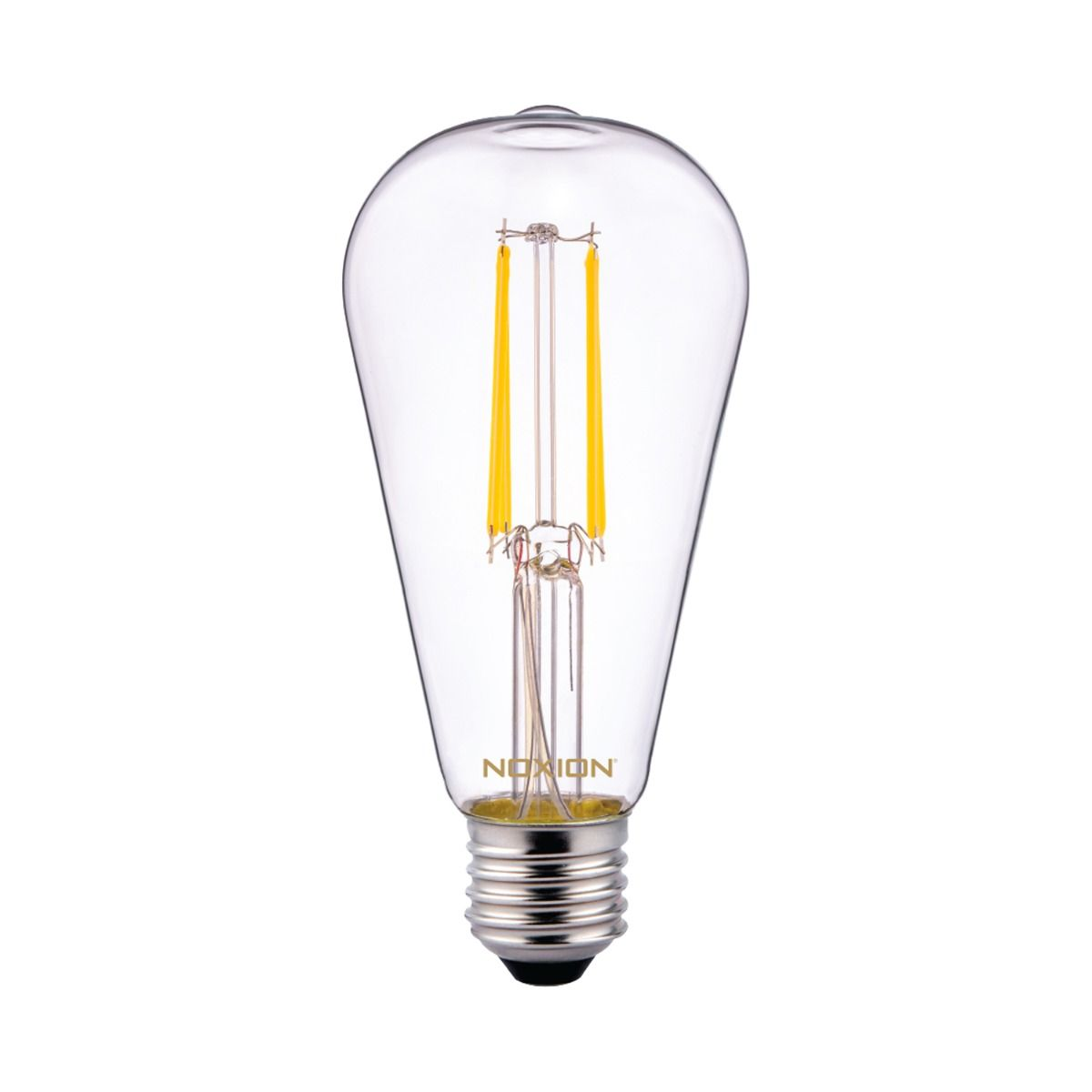 Noxion Lucent klassisch LED Fadenlampe ST64 E27 6.5W 827 Klar   Ersatz für 60W